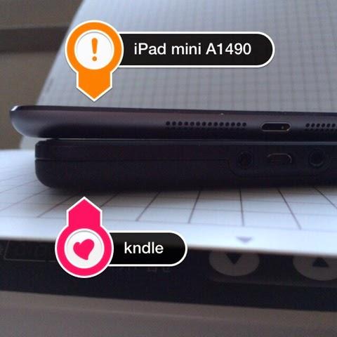kindle fire と iPad mini Retina A1490 の比較といってもね。