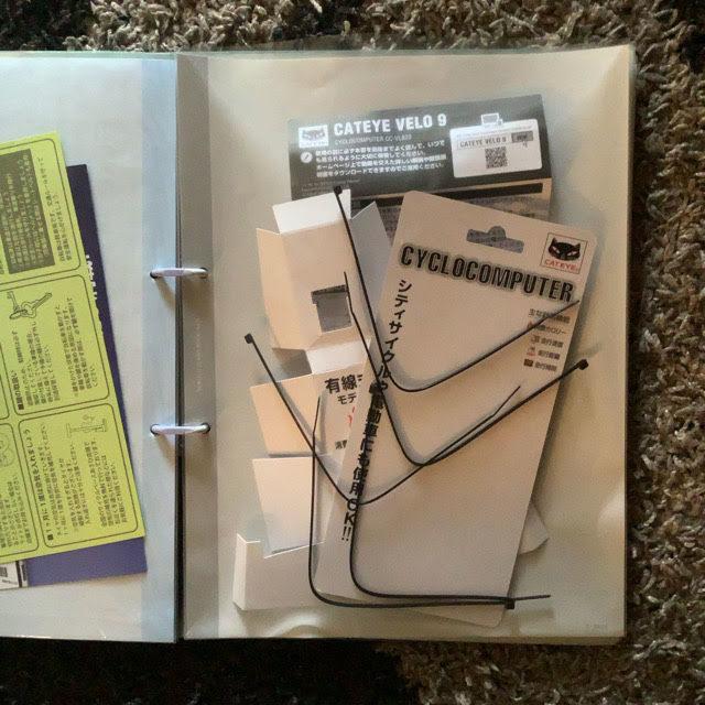 はじめてのサイコンVELO 9の取り付け、余ったストラップや取説を保存