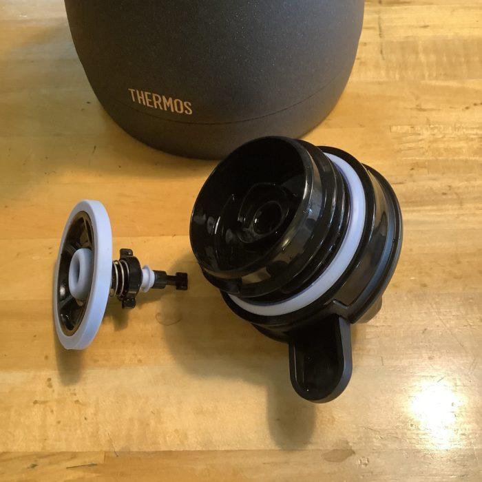 サーモス ステンレスポット THQ-1001 黒陶 、蓋の分解。