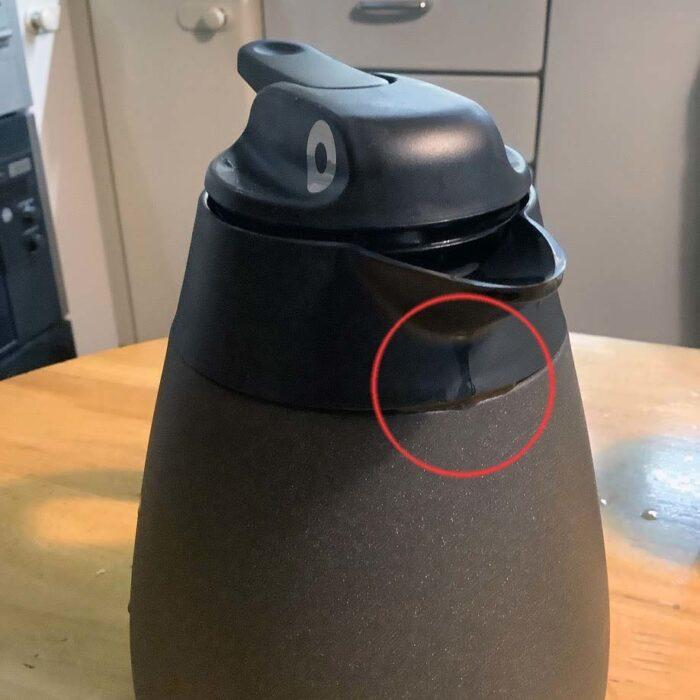 THERMOSのポットTHQ-1001黒陶はよだれを垂らすか