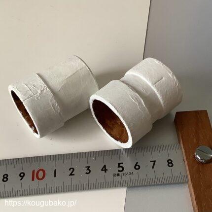 紙管でアダプターを作りました。